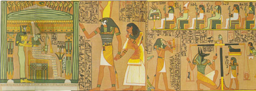 A classical Judgment Scene the Egyptian Book of the Dead.