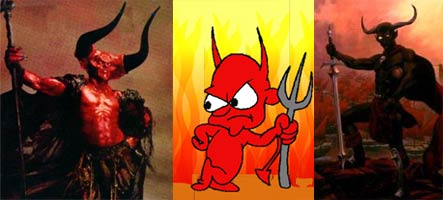 An array of devils with their scepters