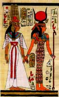 Isis and Neferari, a princess priestess of the Isis bloodline